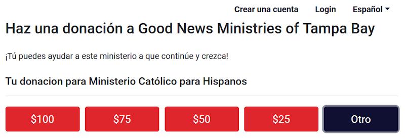 Haz una donación a Good News Ministries
