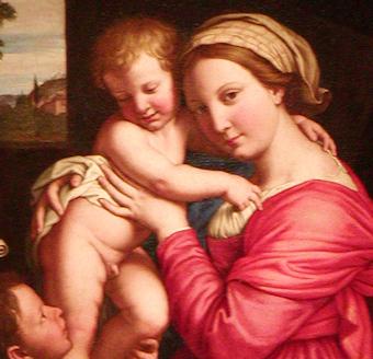 María y su precioso bebé Jesús