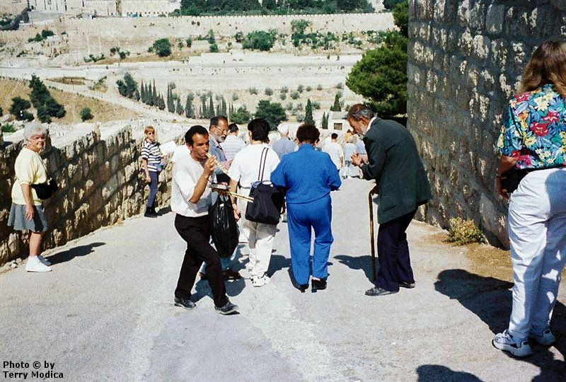 The road down the Mount of Olives