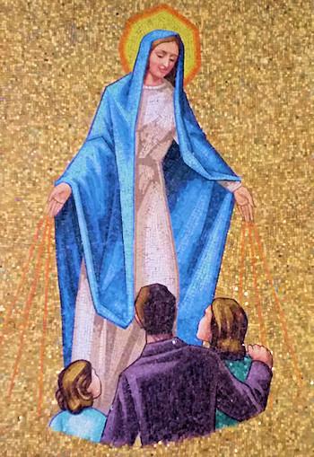 María Santísima sanando a los niños abortados
